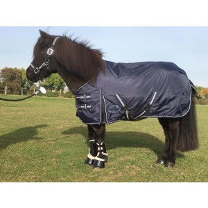 1417 HB Harry and Hector Pony Outdoor waterdichte regendeken Blauw Katoen