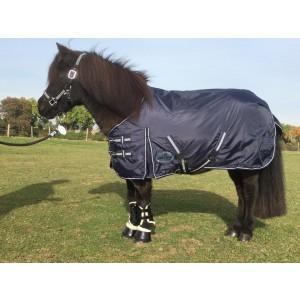1418 HB Harry and Hector Pony Outdoor waterdichte regendeken Blauw Fleece