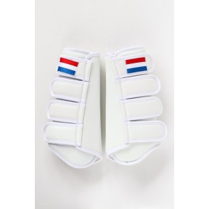 207NL HPD Luxe beenbeschermers achterbeen Wit en Zwart