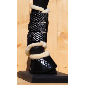 224 HB tranings boots Croco-silver