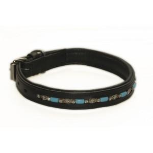 045 HB Hondenhalsband Blue Stones