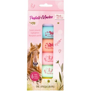 P-13 Pastel coloured highlighters Horse Friends