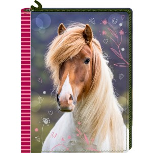 P-17 dagboek met rits Horse Friends