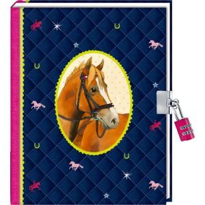 P-13  Dagboekje met cijferslot Paardenvriend